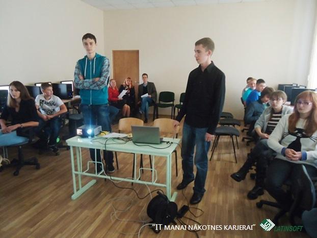 Atvērtā stunda projekta ietvaros - LatInSoft apmācāmie.
